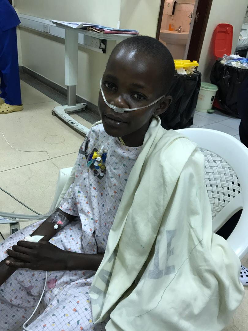"Gorreti: 12-year-old from Kampala, had mitral valve replacement and tricuspid valve repair. Gorreti could barely walk 20 feet prior to surgery, now we anticipate she will be able to return to school and normal activity. She made us a card that says ""thank you for this gift"" in Lugandan, her local Ugandan language."